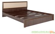 Кровать с мягкой спинкой 1,6 Беатрис М9 (орех)