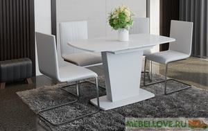 Стол раздвижной «Честер» Тип 2 (белое стекло)