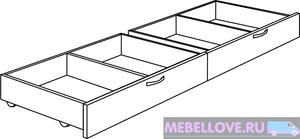 М6 Комплект ящиков к кровати Осло