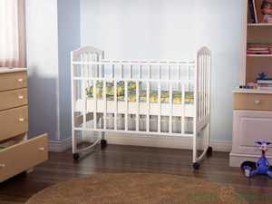 Кровать для новорожденных Золушка (белая)