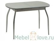 Стол Касабланка 1 (хром+стекло)
