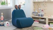 Кресло-мешок «Kids» Тип 1 (пепельно-синий)
