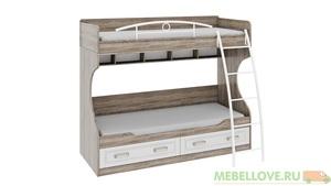 Кровать двухъярусная Прованс с металлической лестницей