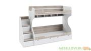 Кровать двухъярусная с приставной лестницей Ривьера
