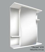 Шкаф зеркальный Лилия 650 (без света)