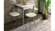 Стол обеденный с хромированными ножками Лион (мини) СМ-204.01.2