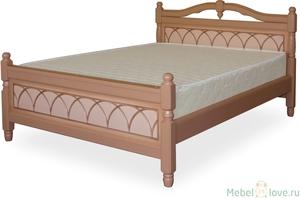 Кровать Людмила-1 эмаль с патиной