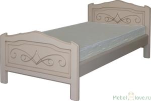 Кровать 900 Людмила-2 эмаль с патиной