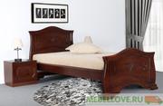 Кровать Людмила-14 (орех светлый с патиной)90