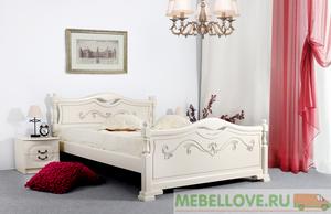 Кровать Людмила-16 (ясень жемчужный)