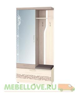 Панель с крючками и зеркалом 39.07.1 Мэри