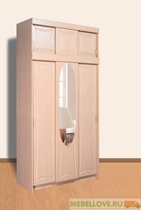 Шкаф-купе 3-х створчатый с антресолью (MRM)