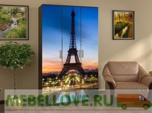 Шкаф 3-х створчатый с фотопечатью (Париж)