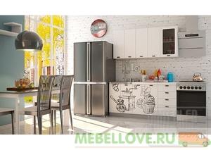 Кухня София COFFEE TIME белый 1,6