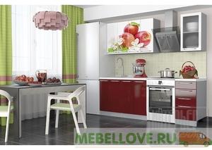 Кухня София красные яблоки 1,6