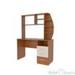 Стол компьютерный 1200 Галерея с надстройкой радиусной