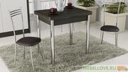 Стол обеденный с хромированными ножками «Лион»