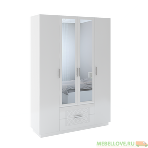 Шкаф с ящиками и зеркалами Тиффани М-28