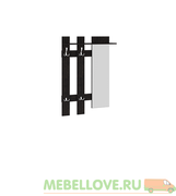 Вешалка с крючками и зеркалом «Арт (мини)»