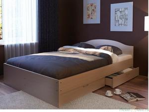 """Кровать 1,6 """"Веста"""" с ящиками"""