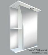 Шкаф зеркальный Виола 500 со светом