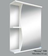 Шкаф зеркальный Волна 500 (без света)