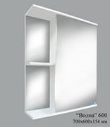 Шкаф зеркальный Волна 600 (без света)