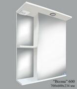 Шкаф зеркальный Волна 600 со светом